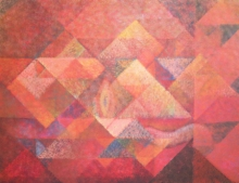 Abstract Acrylic Art Painting title Untitled 4 by artist Mansi Palshikar