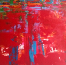 Abstract Acrylic Art Painting title 'Untitled 4' by artist Ranadip Mukherjee
