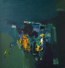 Abstract Acrylic Art Painting title Fire Deep Within by artist Jayshree Savani