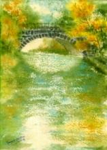 Nature Watercolor Art Painting title 'Culvart' by artist Ramessh Barpande