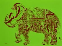 Animals Acrylic Art Painting title Jubilation 8 by artist Niraja Bhuwal