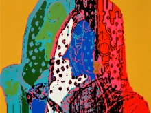 Figurative Acrylic Art Painting title Jubilation 9 by artist Niraja Bhuwal
