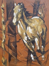 Animals Acrylic Art Painting title 'Untitled 74' by artist Santoshkumar Patil