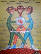 contemporary Acrylic Art Painting title 'Untitled 4' by artist Arvind Dubey
