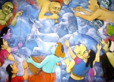 My Dream | Painting by artist Apet Pramod | acrylic | Canvas