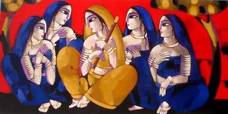 PURBARAAG   Painting by artist Sekhar Roy   acrylic   Canvas