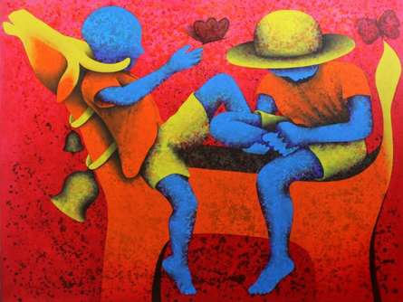 Athkheliyan 59 | Painting by artist Lakhan Singh Jat | acrylic | Canvas