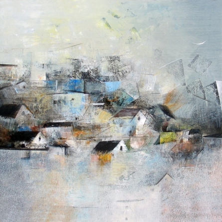 My Dream Village | Painting by artist M Singh | acrylic | Canvas