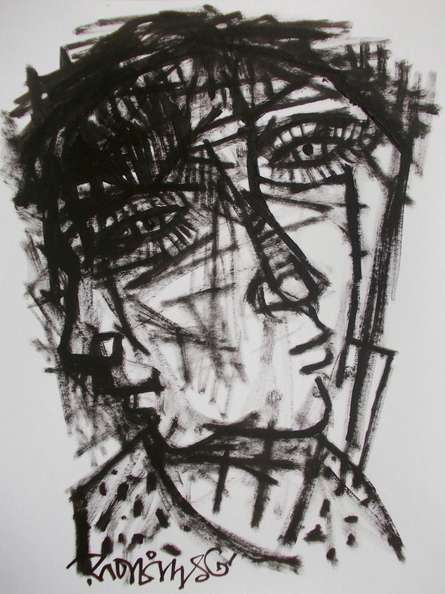 Pain 9 | Drawing by artist Rupchand Kundu | | others | Paper