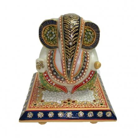 Delightful Lord Ganesha | Craft by artist Ecraft India | Marble