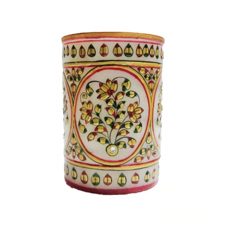 Ecraft India | Floral Pen Stand Craft Craft by artist Ecraft India | Indian Handicraft | ArtZolo.com