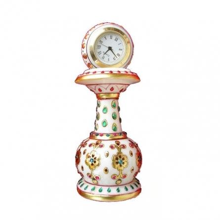 Designer Pillar Watch | Craft by artist Ecraft India | Marble