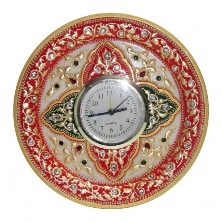 Ecraft India | Circular Table Watch Craft Craft by artist Ecraft India | Indian Handicraft | ArtZolo.com