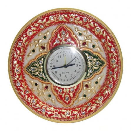 Circular Table Watch | Craft by artist Ecraft India | Marble