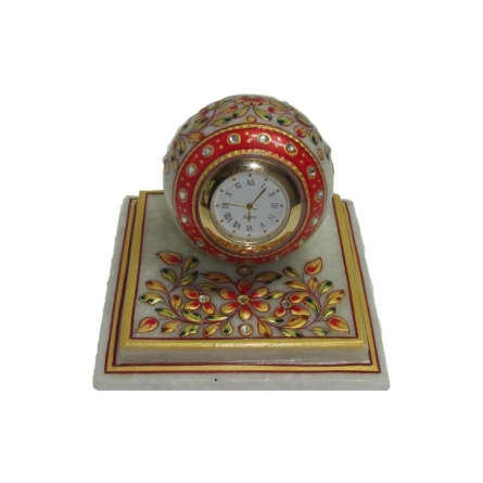 Square Table Watch | Craft by artist Ecraft India | Marble