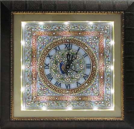 Ecraft India | Embossed Wall Clock Craft Craft by artist Ecraft India | Indian Handicraft | ArtZolo.com