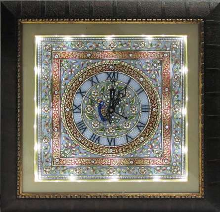 Embossed Wall Clock | Craft by artist Ecraft India | Marble
