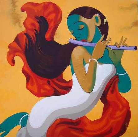 Music 6   Painting by artist Prakash Pore   acrylic   Canvas