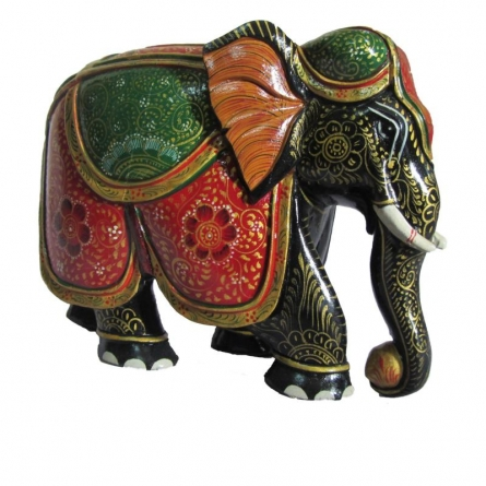 Ecraft India | Colored Jumbo Elephant Statue Craft Craft by artist Ecraft India | Indian Handicraft | ArtZolo.com