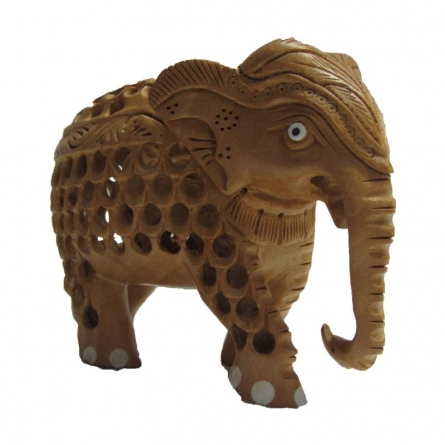Mother Elephant | Craft by artist Ecraft India | wood