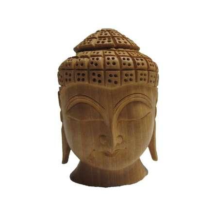 Buddha Head | Craft by artist Ecraft India | wood