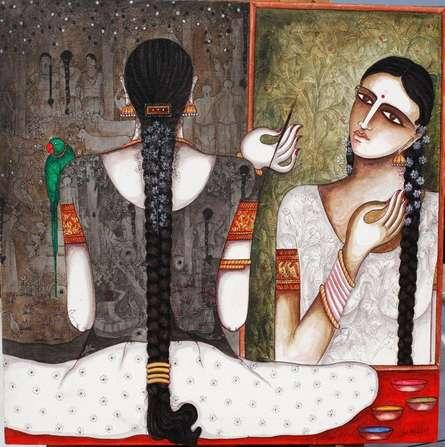 Untitled   Painting by artist Kappari Kishan   acrylic   Canvas