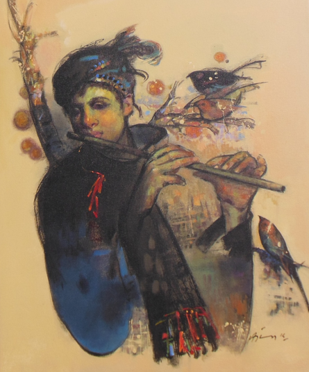 Mystic Tune | Painting by artist Ajay Deshpande | acrylic | Canvas