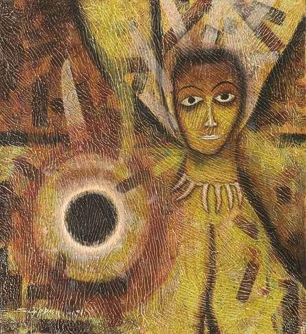 Black Moon   Painting by artist Sudip Das   tempera   Canvas Board