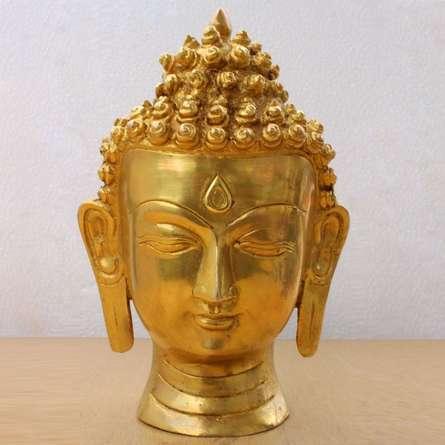 Brass Art | Brass Buddha Head Craft Craft by artist Brass Art | Indian Handicraft | ArtZolo.com