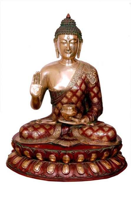 Brass Art | Brass Buddha Statue Craft Craft by artist Brass Art | Indian Handicraft | ArtZolo.com
