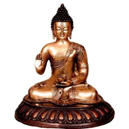 Brass Art | Brass Sitting Buddha Craft Craft by artist Brass Art | Indian Handicraft | ArtZolo.com