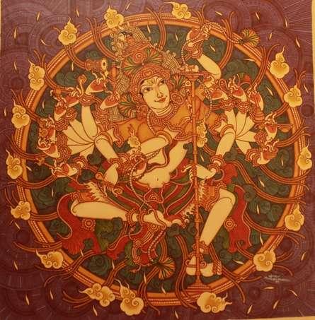 Manikandan Punnakkal Paintings | Acrylic Painting - Untitled 23 by artist Manikandan Punnakkal | ArtZolo.com