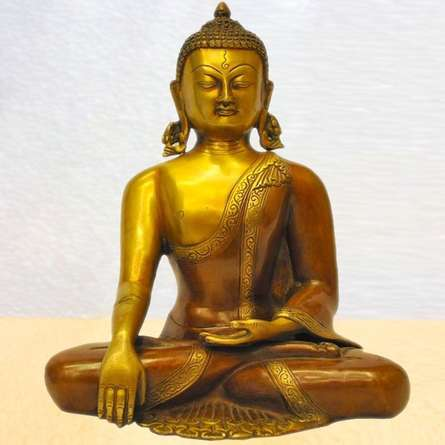 Brass Art | Dhyana Brass Buddha Craft Craft by artist Brass Art | Indian Handicraft | ArtZolo.com