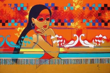 Dream 02 | Painting by artist Prakash Pore | acrylic | Canvas