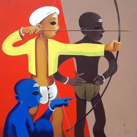 Lakshya | Painting by artist Prakash Pore | acrylic | Canvas