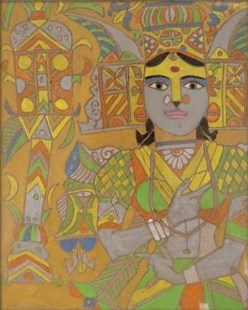 art, painting, laxma, goud, indian, master, artist