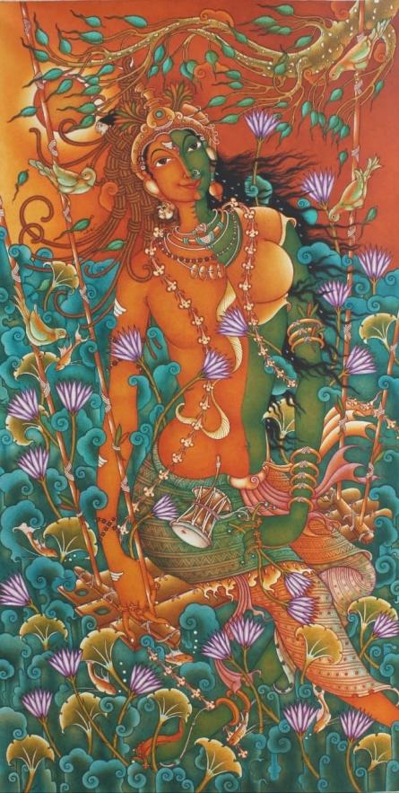 Manikandan Punnakkal Paintings | Acrylic Painting - Untitled 18 by artist Manikandan Punnakkal | ArtZolo.com