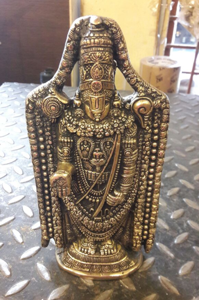 VS Craft | Venkateshwara Brass Idol Craft Craft by artist VS Craft | Indian Handicraft | ArtZolo.com