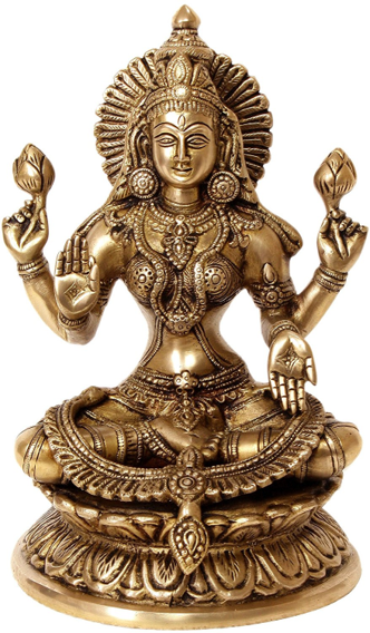 VS Craft | Lakshmi Brass Idol Craft Craft by artist VS Craft | Indian Handicraft | ArtZolo.com