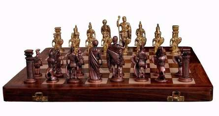 VS Craft | Brass Chess Craft Craft by artist VS Craft | Indian Handicraft | ArtZolo.com