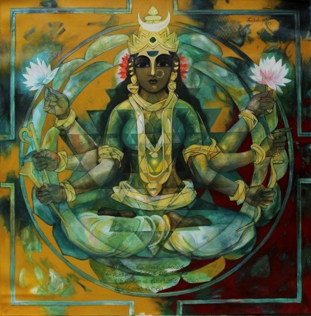 Shakthi 5 | Painting by artist Rajeshwar Nyalapalli | acrylic | Canvas