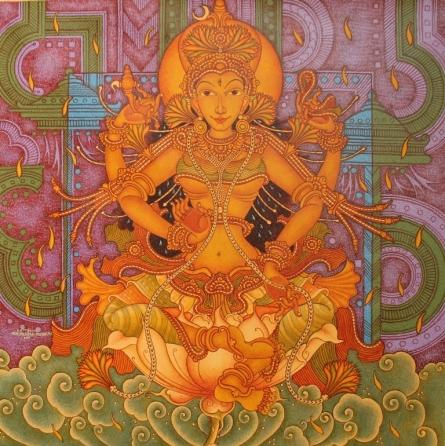 Manikandan Punnakkal | Acrylic Painting title Untitled 15 on Canvas | Artist Manikandan Punnakkal Gallery | ArtZolo.com