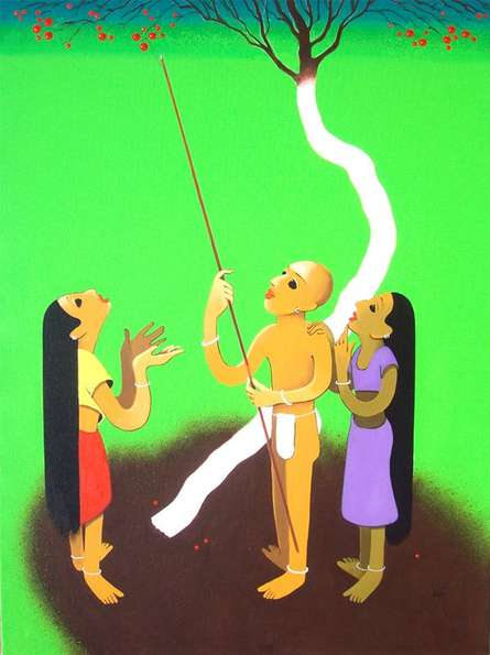 Spring Iii | Painting by artist Prakash Pore | acrylic | Canvas