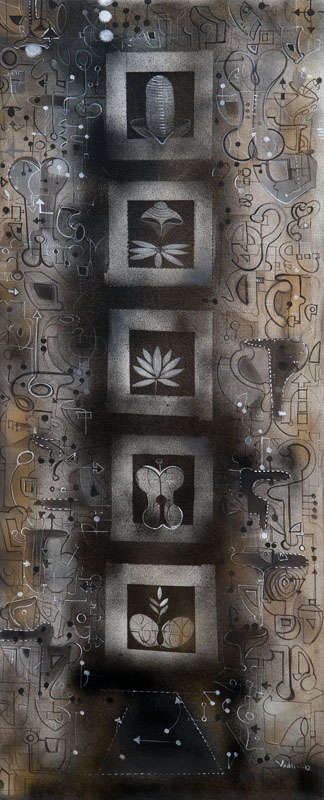 Urban Mythology 1 | Painting by artist Madan Lal | acrylic | Canvas