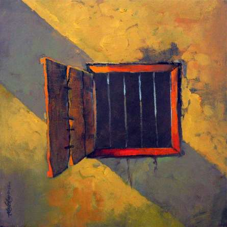 Window | Painting by artist Sachin Akalekar | acrylic | Canvas