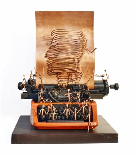 Metal, Mixedmedia Sculpture titled 'Fertility Of Science' by artist Shanee Keshari