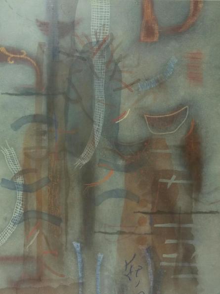Nature Mixed-media Art Painting title 'Deviation Of Nature 7' by artist Narendar Mukherjee
