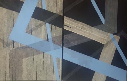 Abstract Mixed-media Art Painting title 'Yin And Yang' by artist Megha Madan