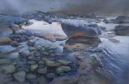 Alanya Rocks | Painting by artist Bijay Biswaal | acrylic | Canvas