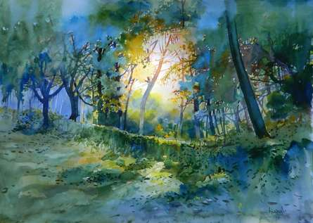 Fresh Air | Painting by artist Bijay Biswaal | watercolor | Paper